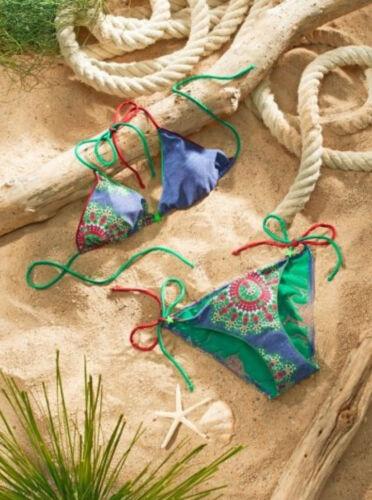 SALE/%/%/% NEU!! Designer-Neckholder-Bikini-Set Blau Versandhaus