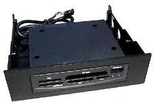 "Black Internal 5.25"" Card Reader Writer + USB 2.0 Port Reads SD Micro Compact TF"