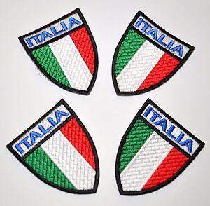4 Empiècements Italie Scudetto Bordé Pièce Tricolore Drapeau Italie Flag Écusson
