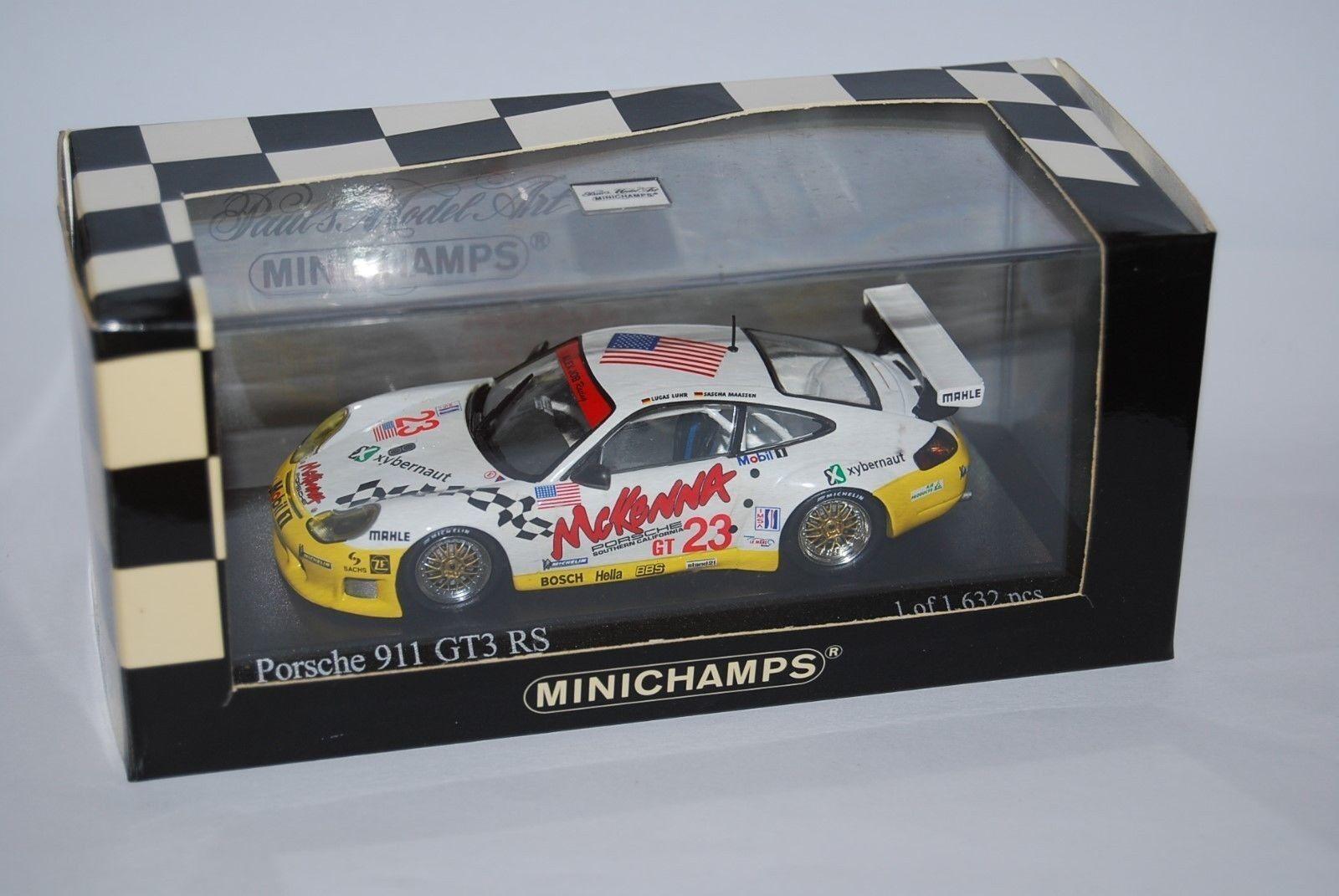MINICHAMPS PORSCHE 911 GT3 RS SEBbague 2002  400026923 NEUF BOITE nouveau BOX 1 43  les clients d'abord