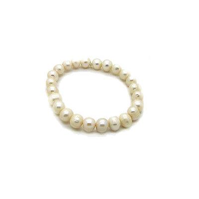 Echt Süßwasser Zucht Perlenkette Armband Armkette 190 x 9-10mm Collier R1273