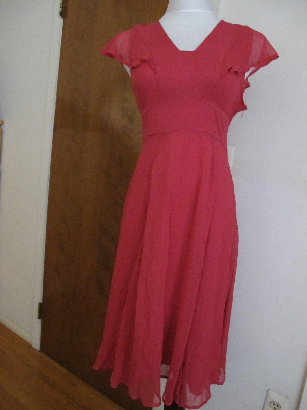 Anthropologie HD in Paris damen Rosa Rosa Silk Dress Größe 4