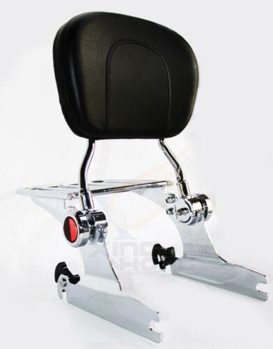 For Harley Softail Chromed Detachable Backrest Sissy Bar Luggage rack
