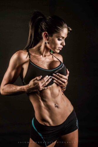 V-103Female Bodybuilding Model Michelle Lewin Art Print12X18 24X36Canvas Poster