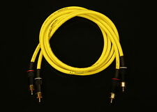Van Damme Yellow Ultra 1.5 Metre Pair Interconnect Cables RCA To RCA (Phono)