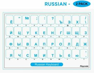 2-PACK-Blue-Russian-Alphabet-Keyboard-Stickers-Letters-Transparent