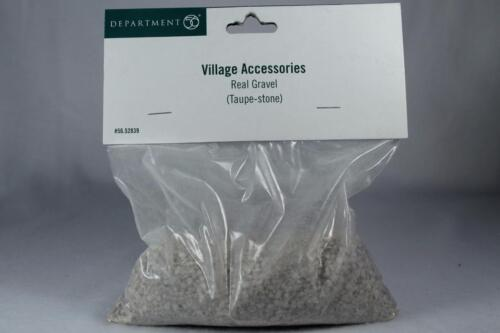 Dept 56 Village Accessory /'Real Gravel-Taupe Stone/' Bag Of Gravel #56.52839 NEW!