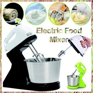 7 Speed Stand Mixer Cake Food Mixing Bowl Beater Dough Multi Electric Blender US