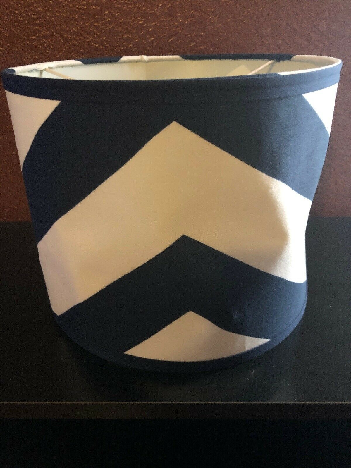 Sweet Jojo Designs Navy Blue And White Chevron Zigzag Lamp Shade 2day Delivery For Sale Online Ebay