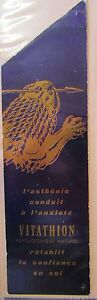 Antique-Brand-Pages-Bookmark-Advertising-Medical-Vitathion-Psychotonique-Natural