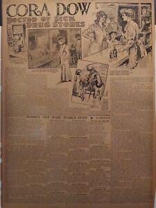 1912-Vintage-Newspaper-Cora-Dow-Woman-Pharmacist-Drug-Store-John-Leisk-Tait