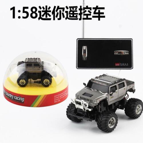 Mini RC Car 1:58 Off-road Vehicle High Speed Car LED Light Vehicles Toys