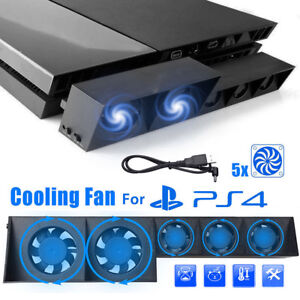 5-Fan-For-PS4-Play-Station4-Host-Cooling-Fan-Cooler-External-Game-Accessories-US