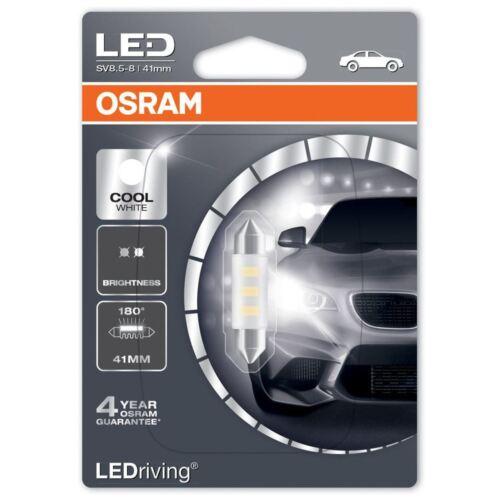 Osram LED C5W 264 41 mm festoon bombilla 6441CW-01B 6000K Interior Blanco Frío Solo