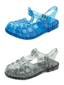 Girls Kids infant summer holiday beach buckle jellies jelly sandals shoes size