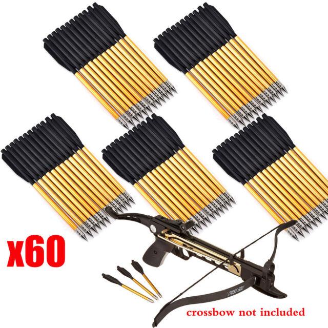 48x Archery Hunting Pistol Crossbow Metal Bolts Arrows for Cross Bow 50lb 80lb