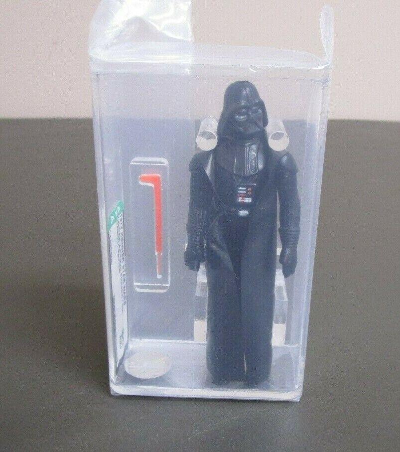 Darth Vader 1977 figura de acción de la guerra de las galaxias calificado autoridad 85 Casi Nuevo + Hong Kong Coo JJ nuevo caso  2