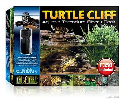 Exo-Terra Large Turtle Cliff Filter Rock with filter  PT3655