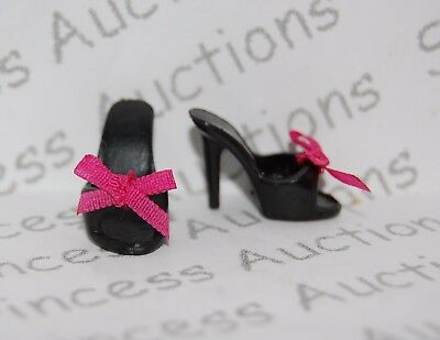 NEW Barbie Basics Collection 001 Look 02 Black Mule Doll Shoes Model Muse Loose