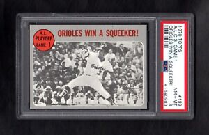 1970-TOPPS-199-ALCS-GM-1-ORIOLES-WIN-A-SQUEEKER-PSA-8-NM-MT-CENTERED