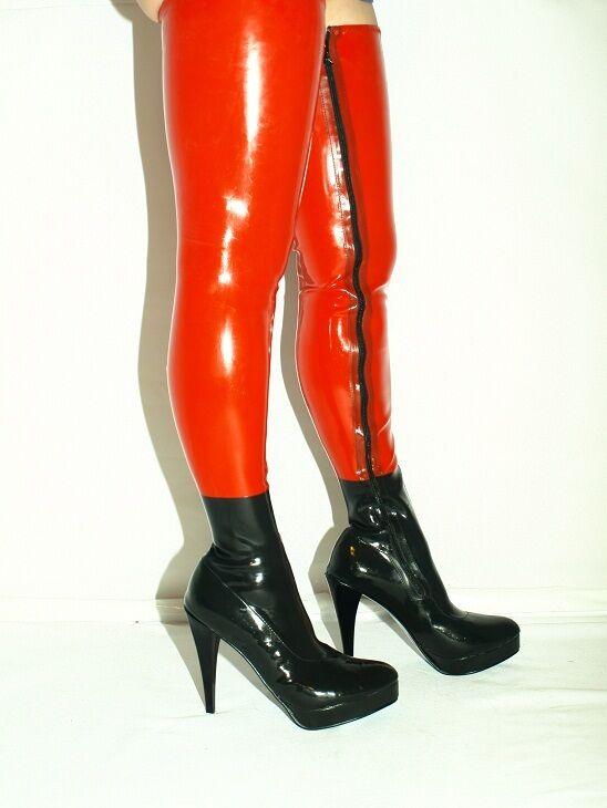 High heels, stiefel latex gummi-100% -Größe 35-47 producer -Polen -heels 13cm