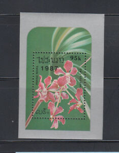 Laos-1987-Orchids-MS-Sc-796G-Mint-Never-Hinged