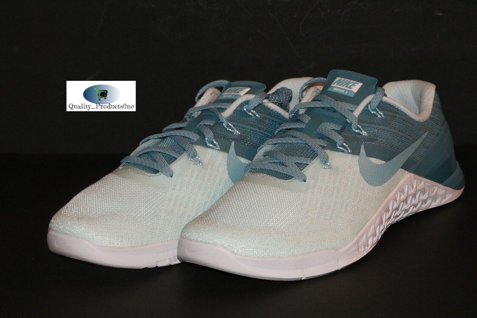 WOMEN'S Nike Metcon 3 Glacier Blue/Mica Blue 849807 400 Sz 11.5