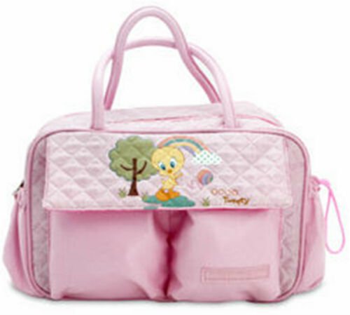 Baby Looney Tunes Big Pink Vanity Carry Hand Bag Size 34 x 19 x 15 cm