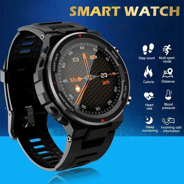 Bluetooth Smartwatch Armband Pulsuhr Blutdruck Fitness Tracker Android IOS IP67