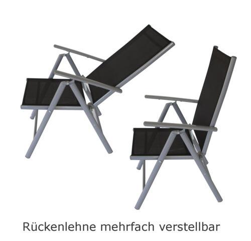 Gartenstuhl Gartensessel Klappsessel Gartenmöbel Stuhl RAVENNA schwarz 4 STÜCK