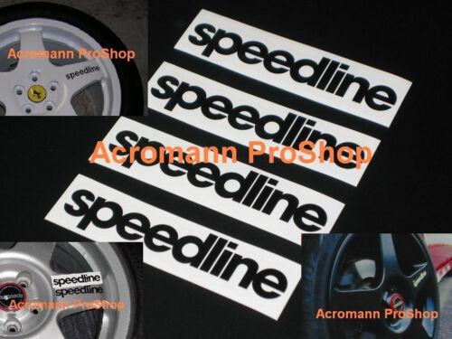"4x 3.5/"" 8.9cm Speedline Decal Sticker wheel alloy rim spoke Italy WRC ferrari"