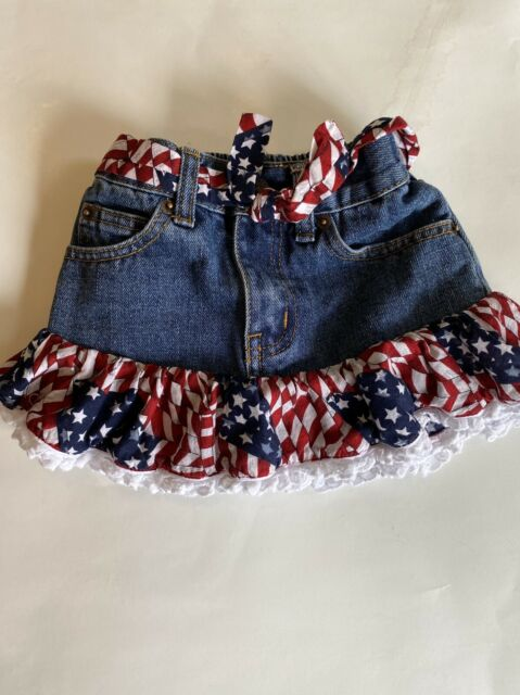 Gymboree Baby Girl Infant Size 0-3 18-24 Months Blue White Toddler Jean Skirt