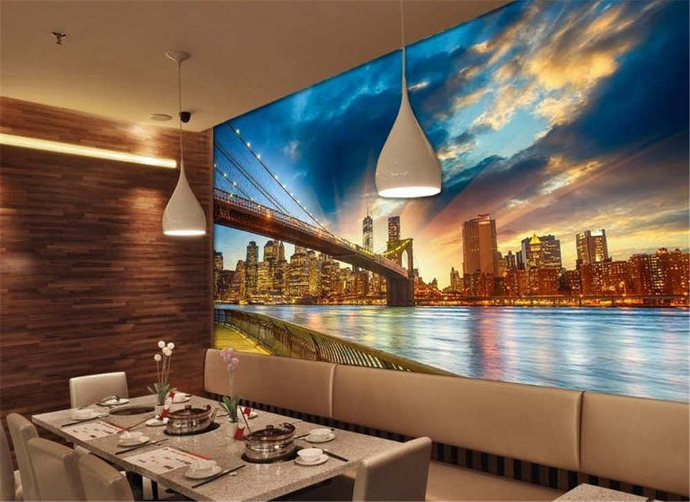 Bridge Over The River Full Wall Mural Photo Wallpaper Printing 3D Decor Kid Home