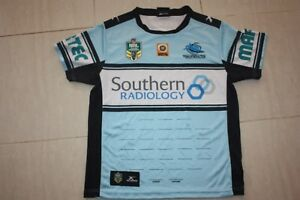CRONULLA-SHARKS-2016-MENS-HOME-JERSEY-M-with-signature-lines