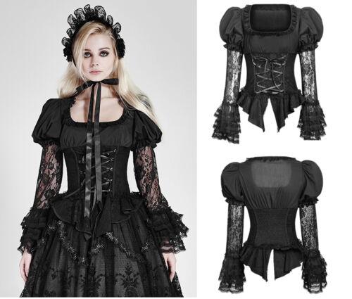 Punk Rave Gothic Lolita Bluse Spitze Lace Shirt Steampunk Victorian Blouse LT007