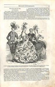 Robe de bal de Marie-Antoinette cour Versailles costumes Louis XVI GRAVURE 1843 - France - EBay Ball gown of Marie-Antoinette at the court of Versailles suits Louis XVI style Article complet ANTIQUE PRINTGRAVURE 100 % DÉPOQUE 1843 PORT GRATUIT EUROPE A PARTIR DE 4 OBJETS BUY 4 ITEMS AND EUROPE SHIPPING IS FREE Il s'agit d'un fragment  - France