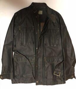 Springfield-Industry-Biker-Jacket-Chaqueta-Cazadora-Moto-Talla-L
