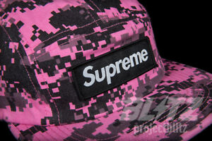 4049407d125 Image is loading SUPREME-NYCO-TWILL-DIGI-CAMO-CAMP-CAP-PINK-