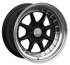 XXR 002.5 16X8 4x100/114.3 +0 Black/Mach Lip Wheels Fits Ef Ek Eg Miata Mr2 Fox