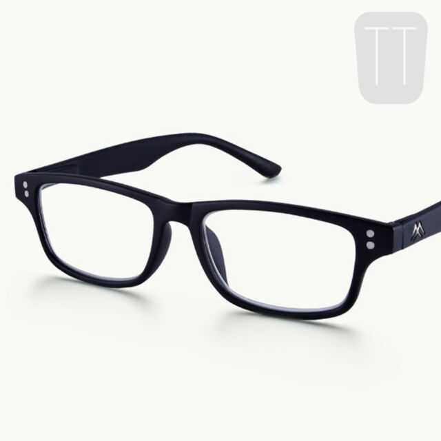 18bb99c567f1 Montana Mr97 Strength Plus 1 Black Reading Glasses