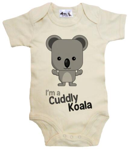 "Dirty Fingers /""I/'m a Cuddly Koala/"" Baby Bodysuit Babygrow Vest Australia Bear"