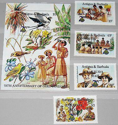 Briefmarken Original Barbuda 1986 853-56 Block 103 769-773 Girl Guides Pfadfinderinnen Ovp Scouts Mnh Motive