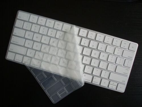 Lot of 2 CLEAR SILICON Super Thin Cover Skin for APPLE Wireless Keyboard A1644