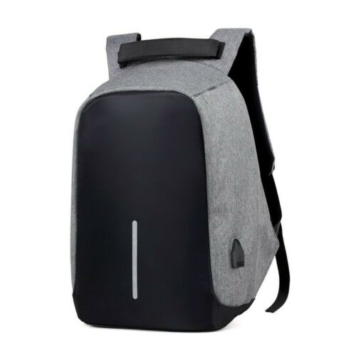 Laptop Backpack 11.6-15.6 inch Anti-Theft Rucksack Bag USB Charging Port Grey