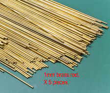 5 (five) X 1mm diameter brass modellers rod - 300mm lengths.