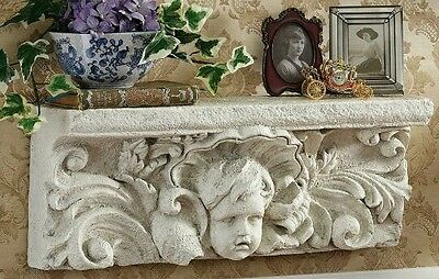 CONCRETE PLASTER MOLD(large wall angel shelf) LATEX ONLY  ready to ship