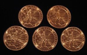"5 x 1 oz Copper Rounds - ""2nd Amendment"" - .999 copper (Cu-105)"
