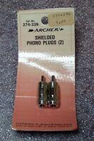 Radio Shack / Archer 274-339 Shielded Phono Plugs Old Stock