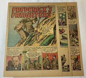 1946-six-page-cartoon-story-BRIGADIER-GENERAL-ROBERT-T-FREDERICK-WWII