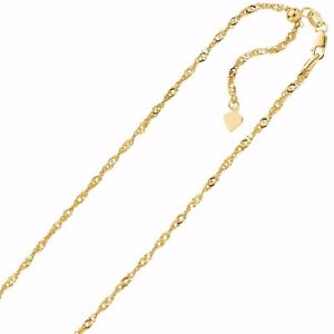 1-1mm-Solid-Adjustable-Singapore-Chain-Necklace-REAL-14K-Yellow-Gold-Up-To-22-034